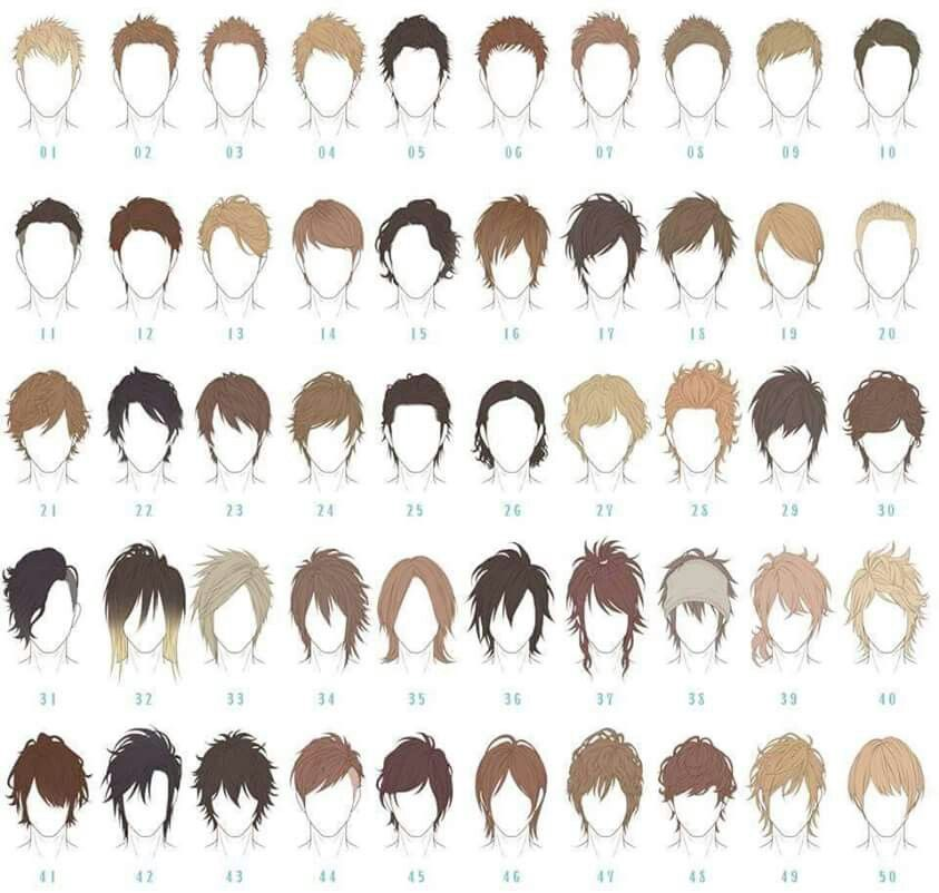 Haircut clipart guy hair. Male reference anime ha