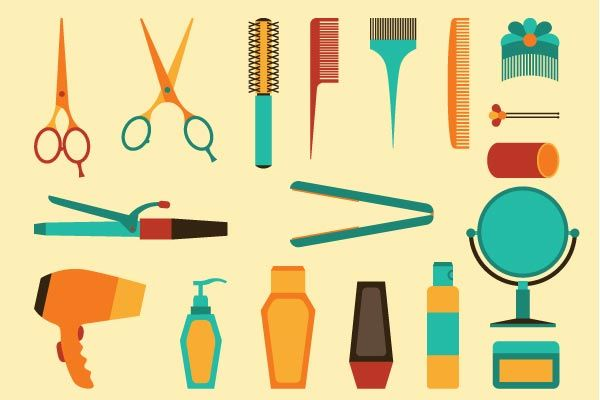 Haircut clipart hair stuff. The only styling tools
