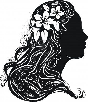 Haircut clipart wild hair. Best silhouettes images