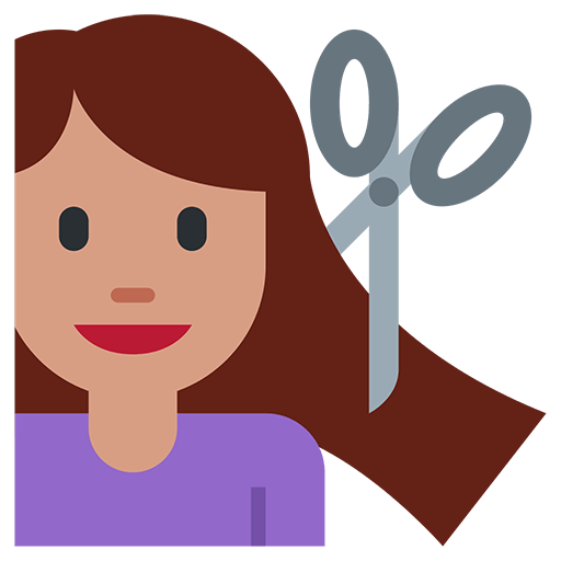 Haircut emoji png. For facebook email sms
