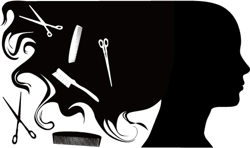 Hairdresser clipart. Comb beauty parlour hairstyle