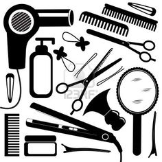 Hairdresser clipart item. Barber tools for haircut