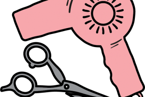 Hairdresser clipart pink. Hairdressing station