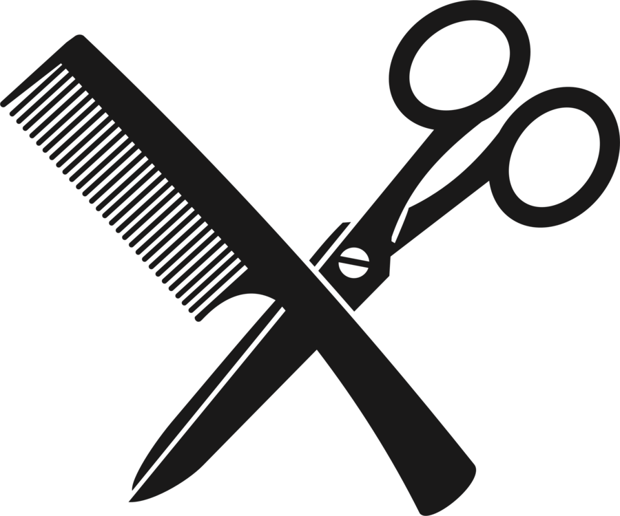 Scissors and comb png. Hair cutting shears hairdresser