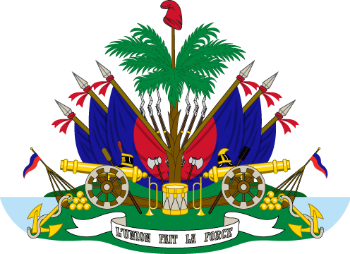 Haiti coat of arms png. Vexilla mundi detail