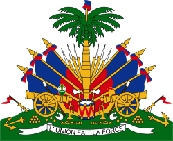 Haiti coat of arms png. Wikipedia