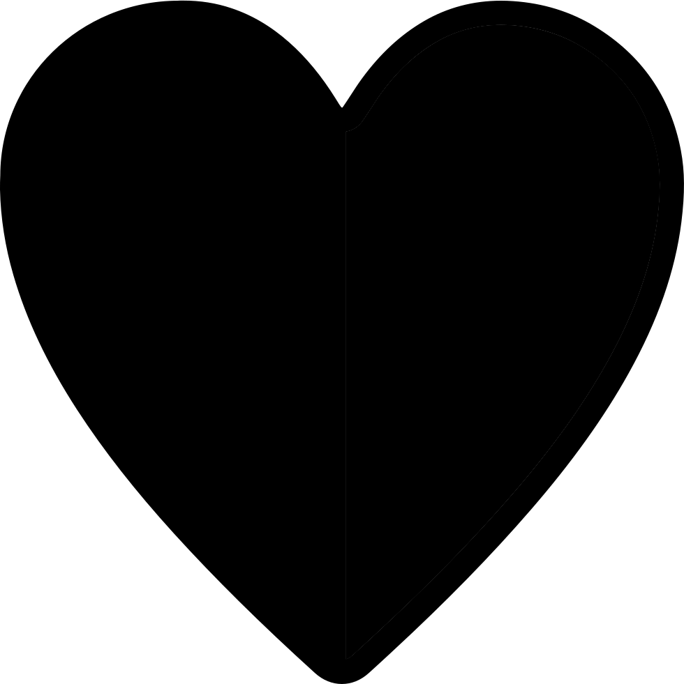 Half heart png. Svg icon free download
