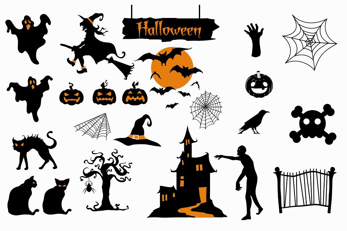 Halloween background png. Elements transparent mart