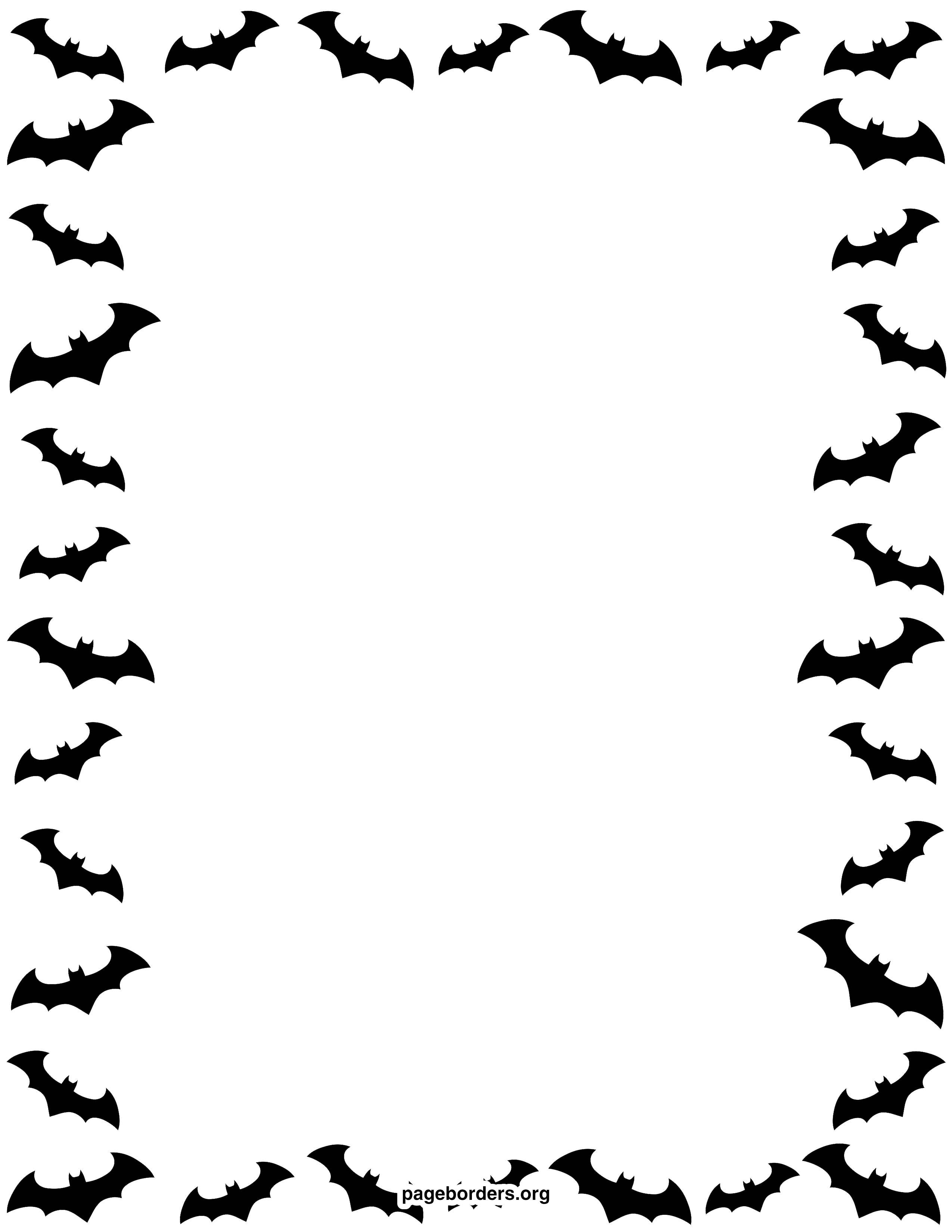 Border transparent mart. Halloween background png jpg black and white library