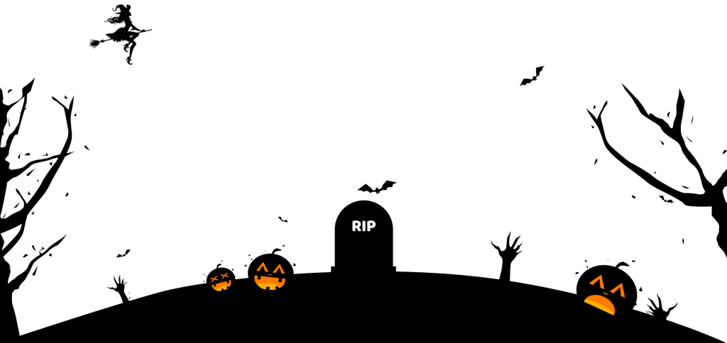 Image arts. Halloween background png banner black and white download