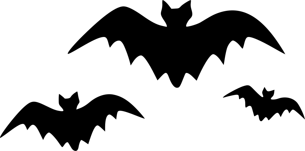 Dreadful evil fearful horrible. Halloween bats png vector library download