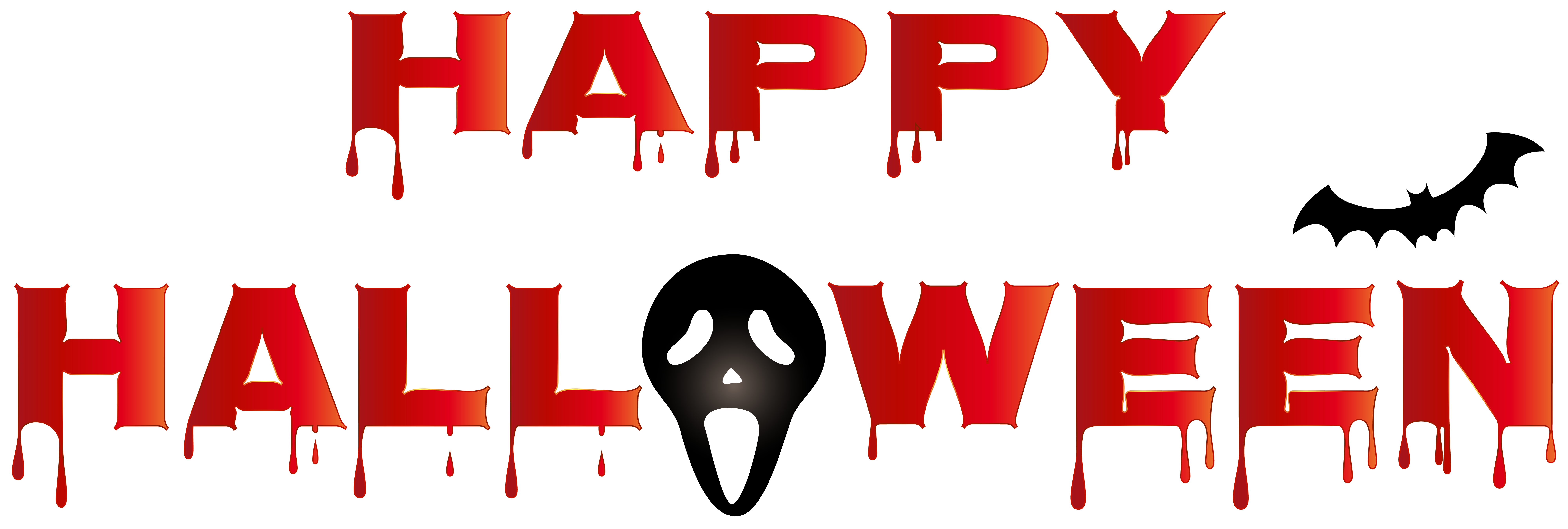 Happy halloween logo png. Bloody clip art gallery