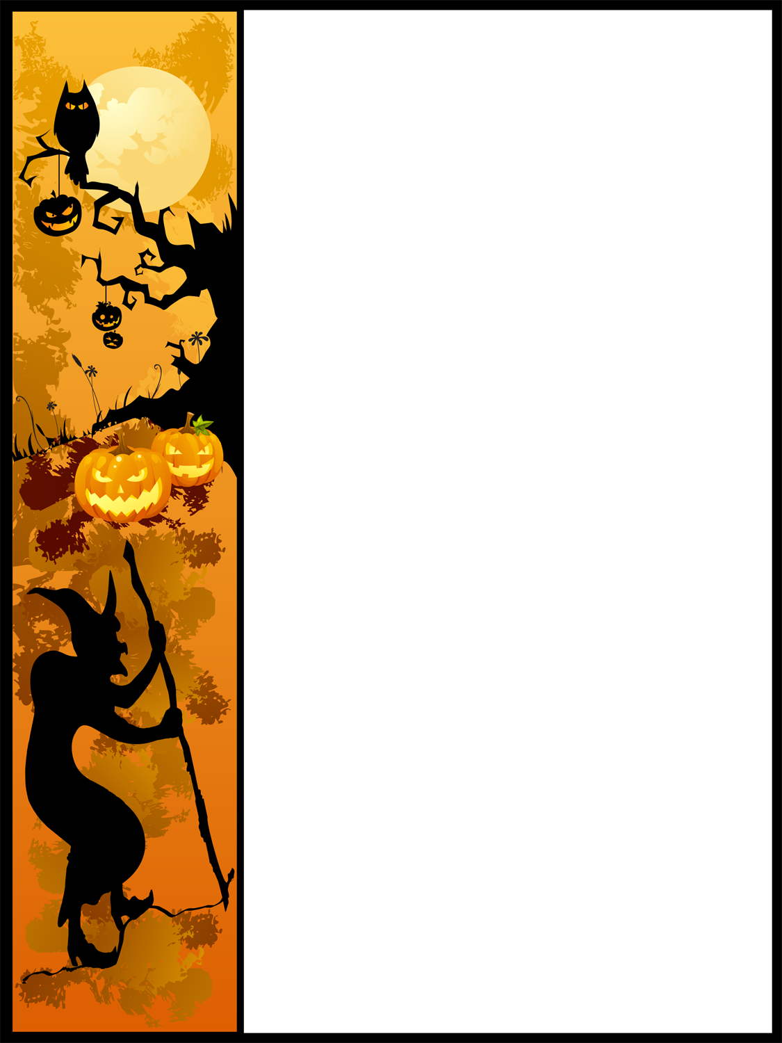 Halloween border landscape png. Collection of pumpkin