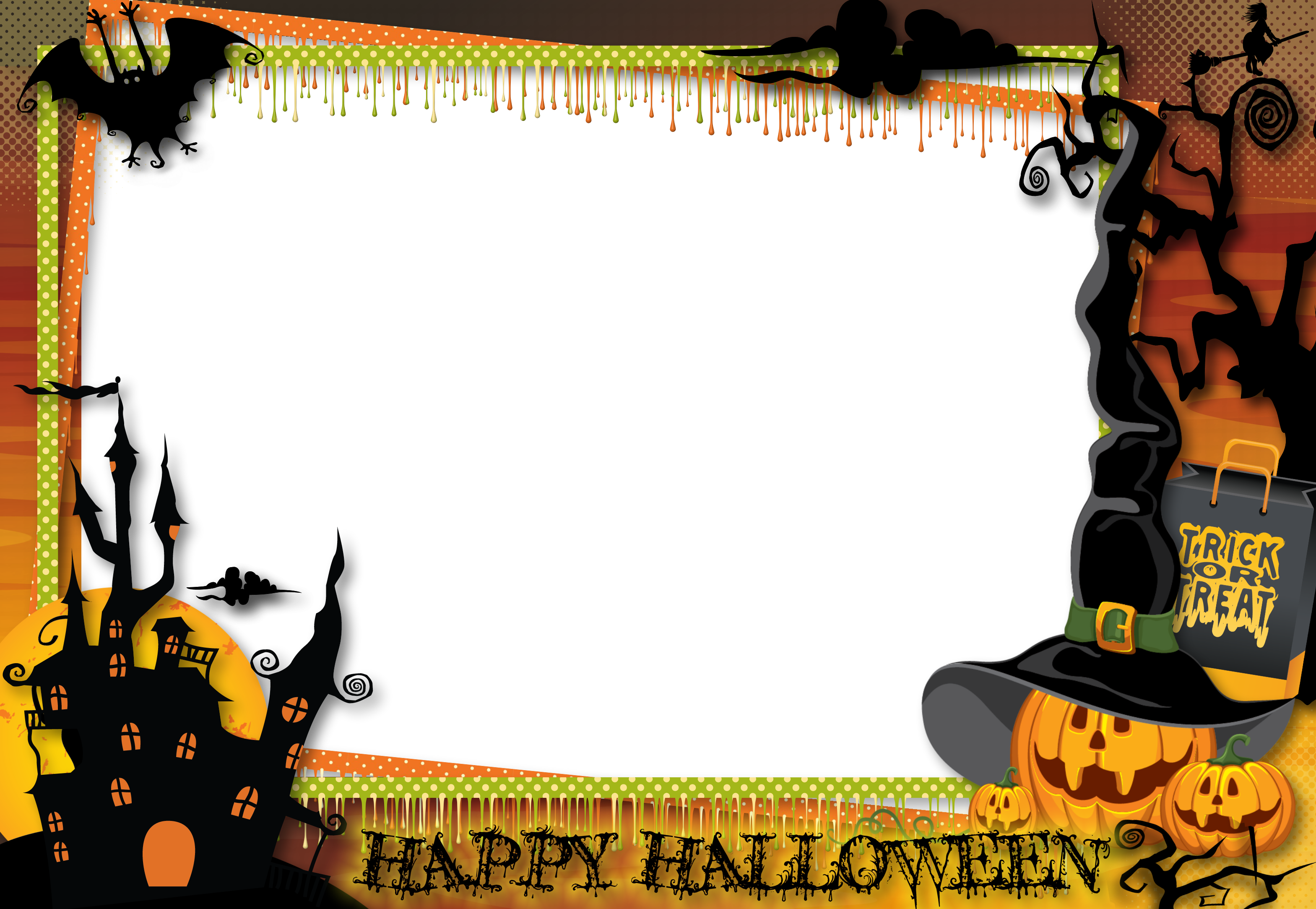 Halloween frame png. Transparent large photo gallery