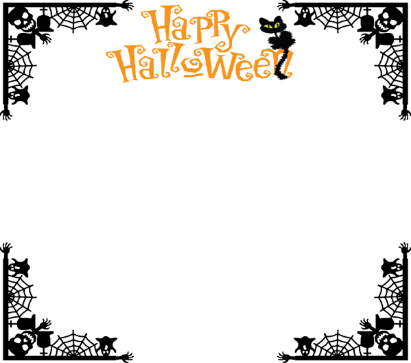 Halloween frame png. Border by metalocalypse on