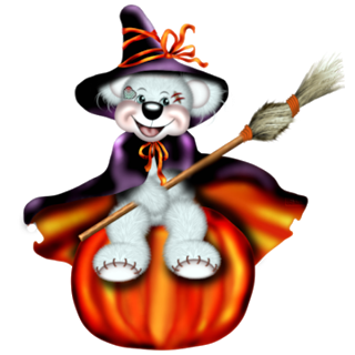 Halloween clipart cartoon. Creddy teddy witch clip