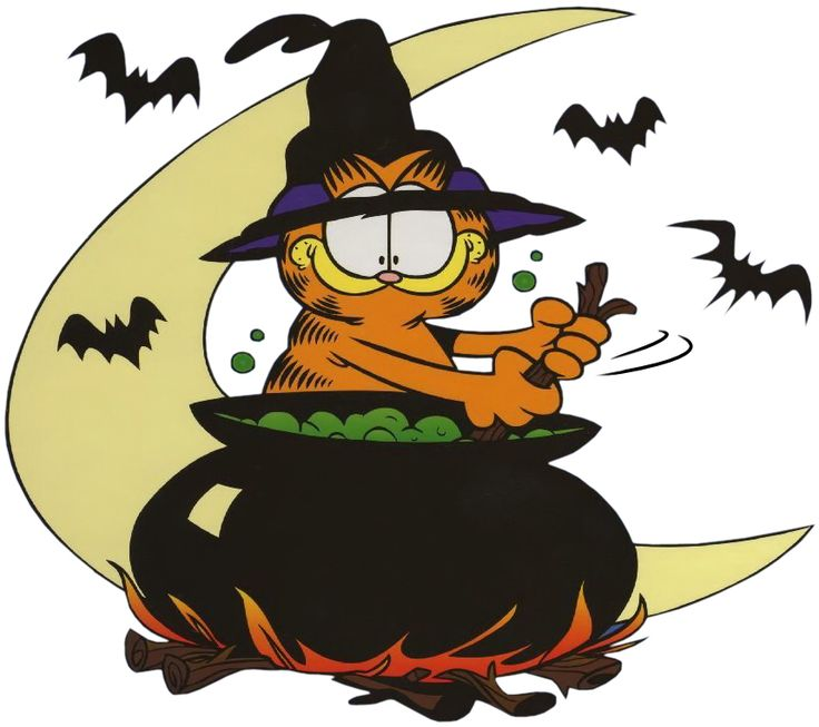 Halloween clipart cartoon. Pictures cartoons garfield clipartxtras
