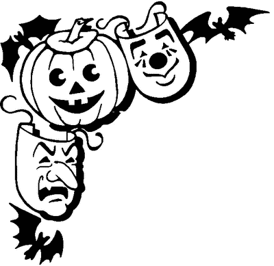 Halloween clipart corner. Free all hallows eve