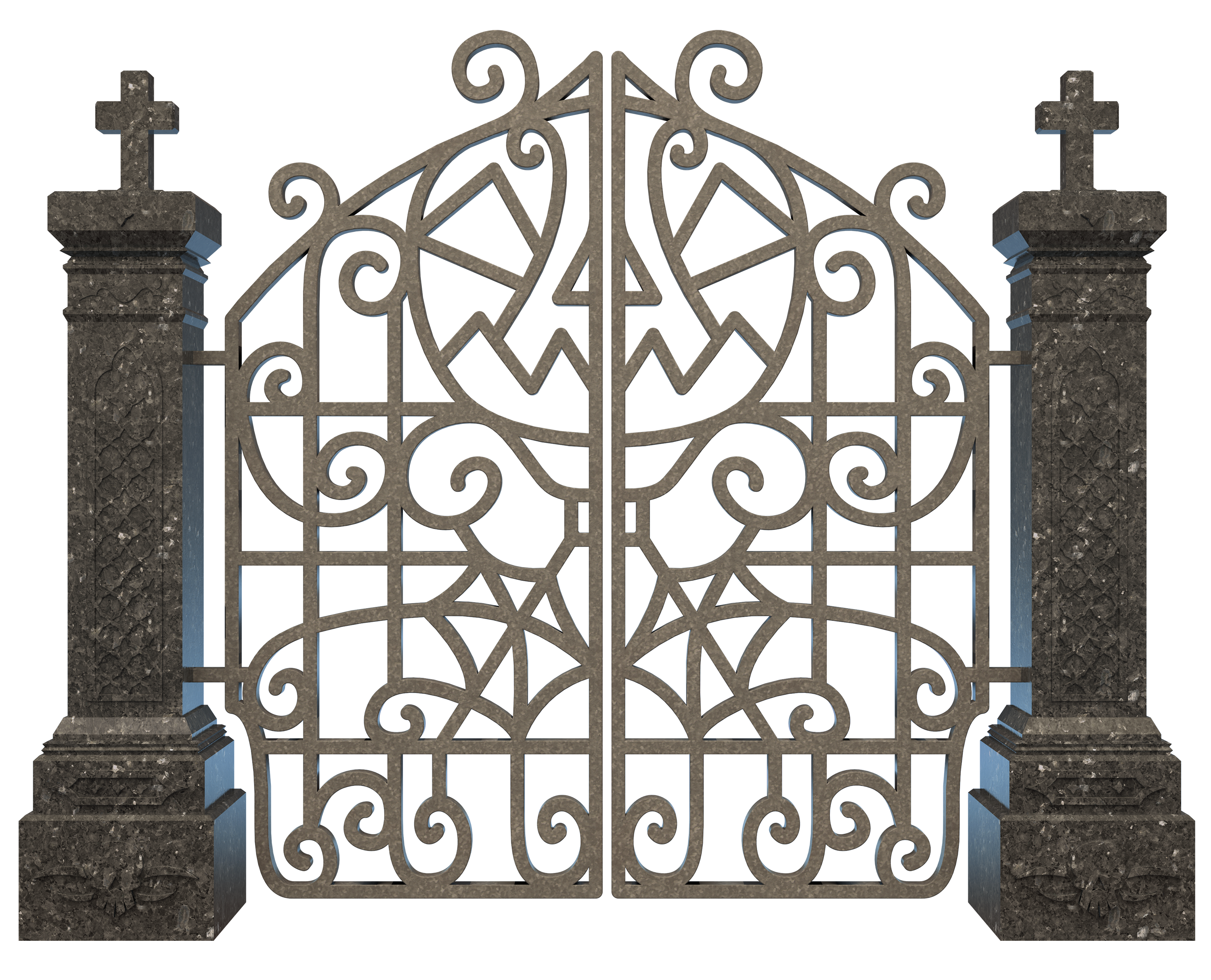 Halloween clipart gate. Graveyard png image gallery