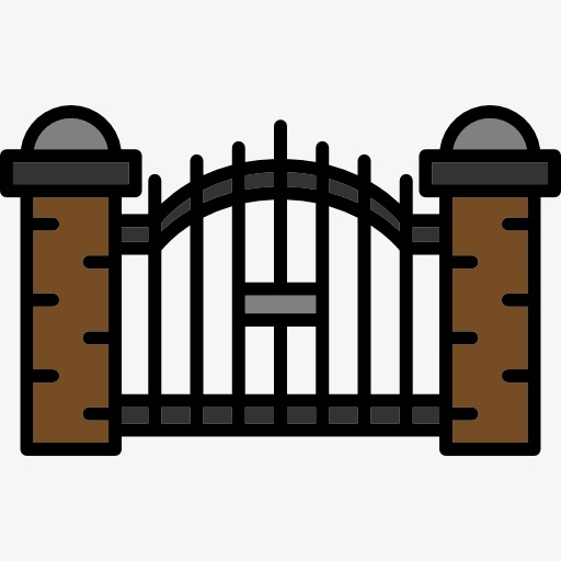 Halloween clipart gate. Creative elements terror ghost