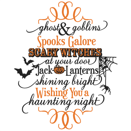 Halloween clipart goblins. Ghost phrase svg scrapbook