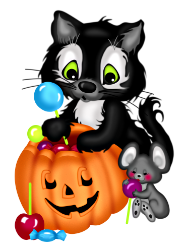 Halloween clipart invitation. Happy clip art kitty