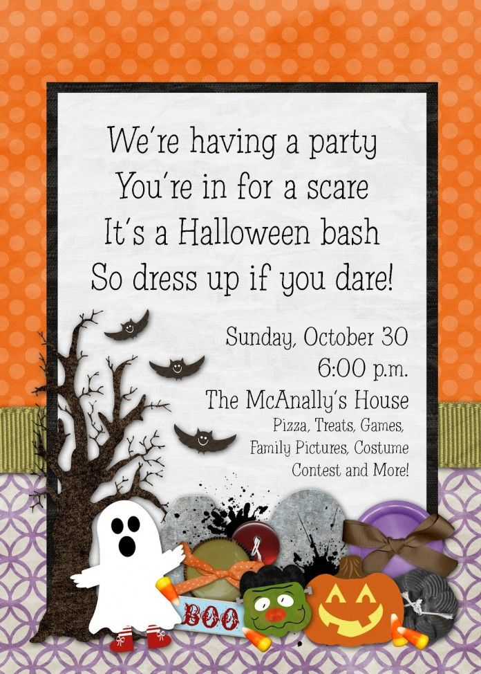 Halloween clipart invitation. Best and ideas