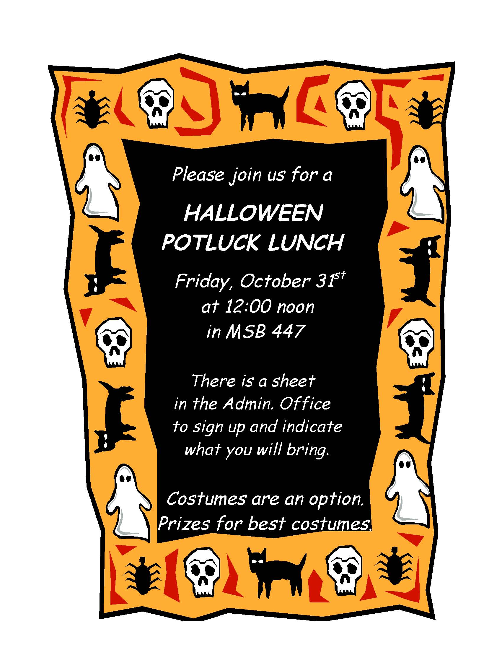 Halloween clipart potluck. Images of flyer