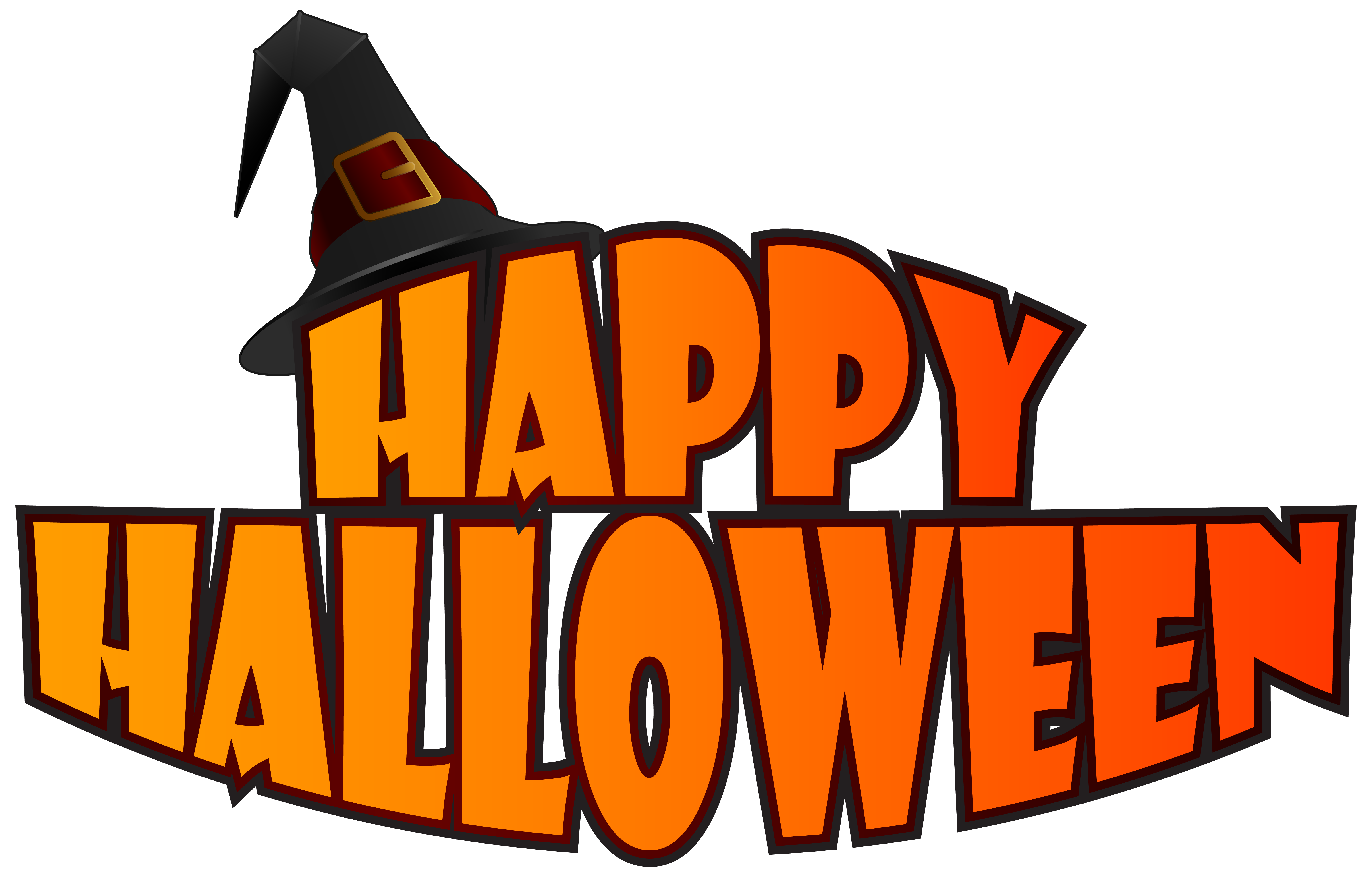 Halloween clipart witch. Happy png with hat