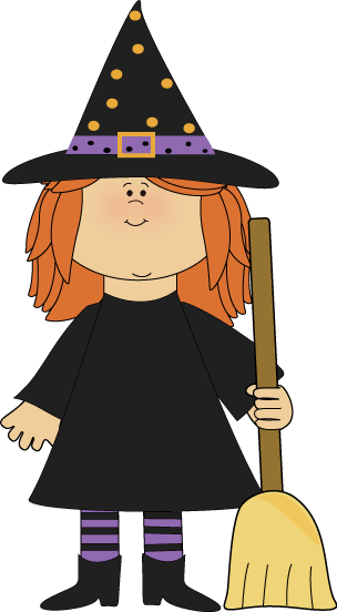 Halloween clip art images. Witches clipart jpg black and white library