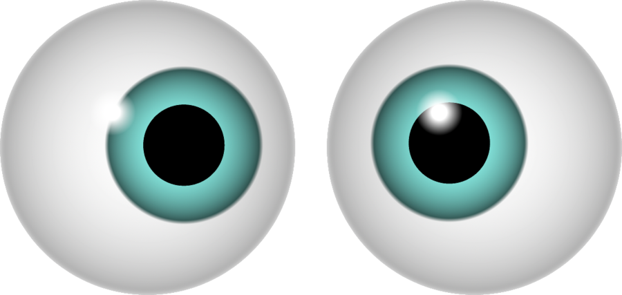 Vector eyeball horror eye. Scary eyes clipart at