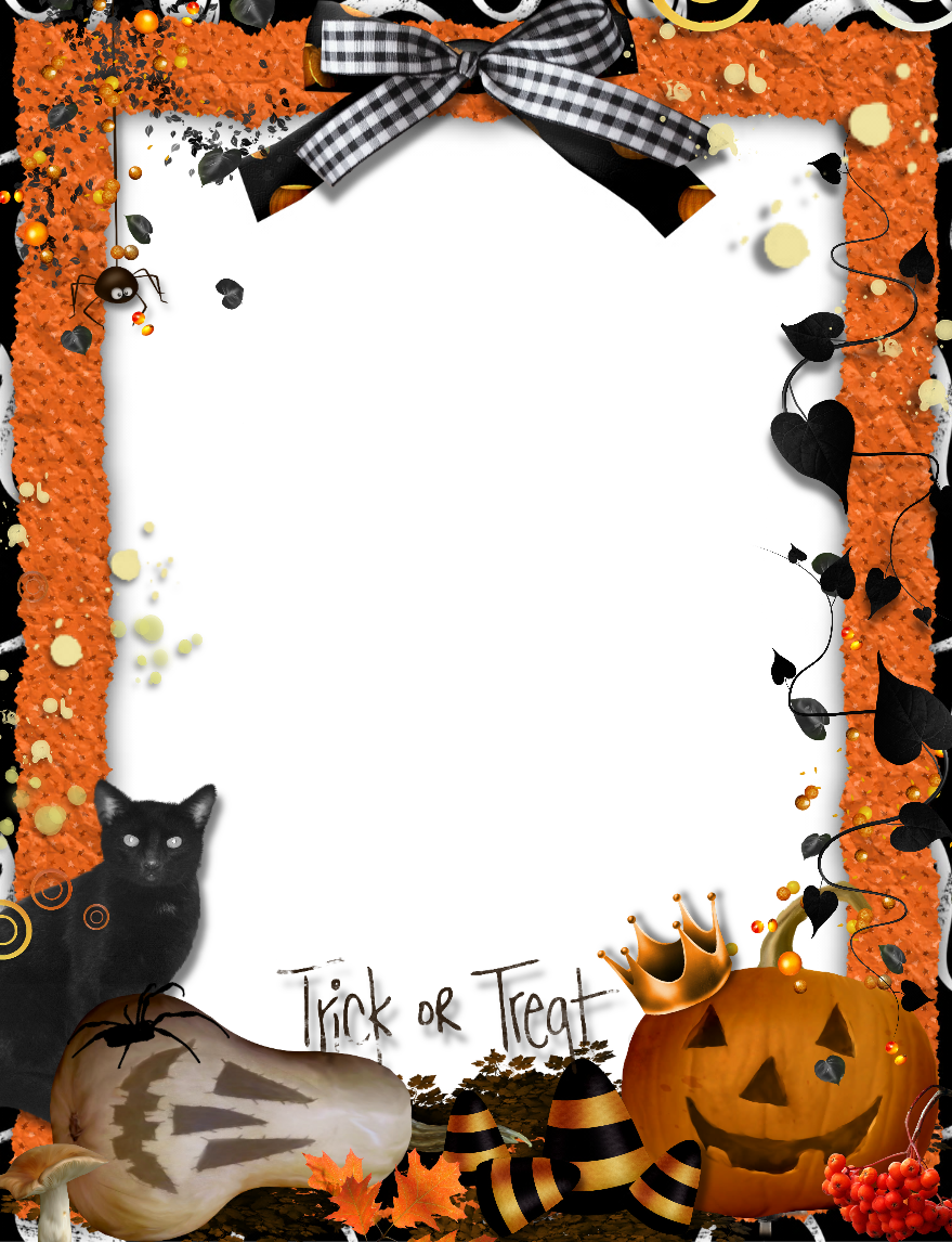 Halloween frame png. Orange photo gallery yopriceville