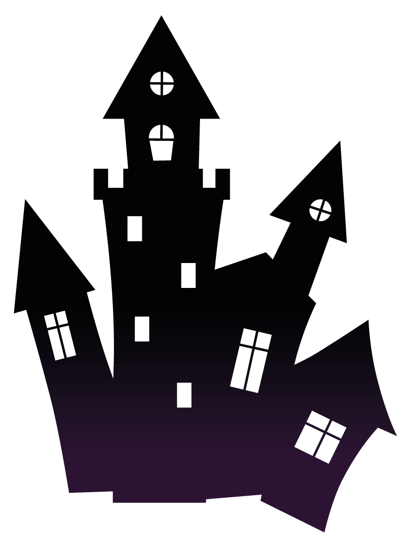 Haunted house png. Halloween transparent stickpng