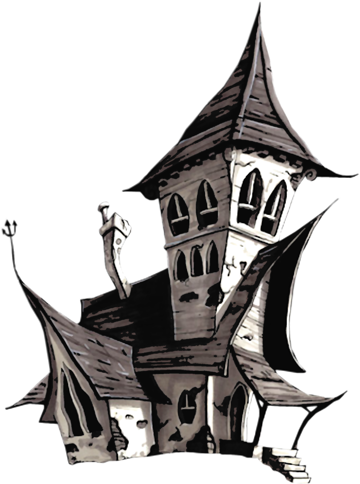 Halloween house png. White clipart gallery yopriceville