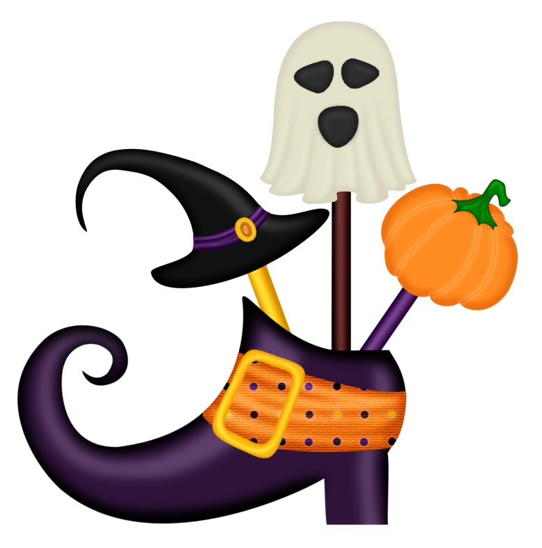 Halloween kids png. Witch shoe decor clipart