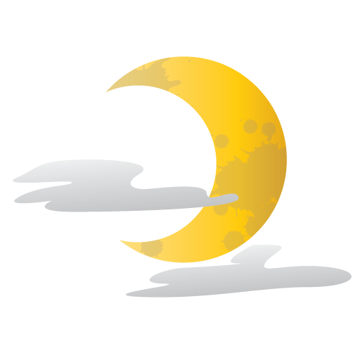 Halloween moon png. Scary half icon size