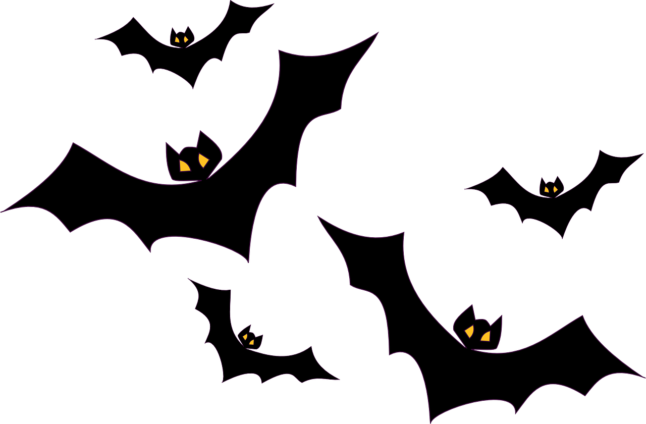 Flying svg black and. Halloween png bats picture free library