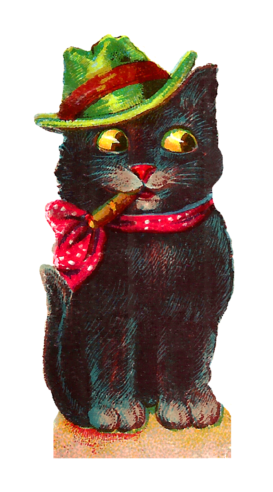 Halloween png vintage. Cat clipart freeuse download