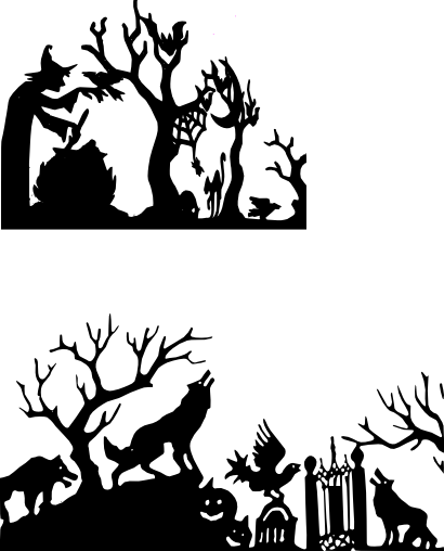 Halloween silhouette png. Scene free svg files