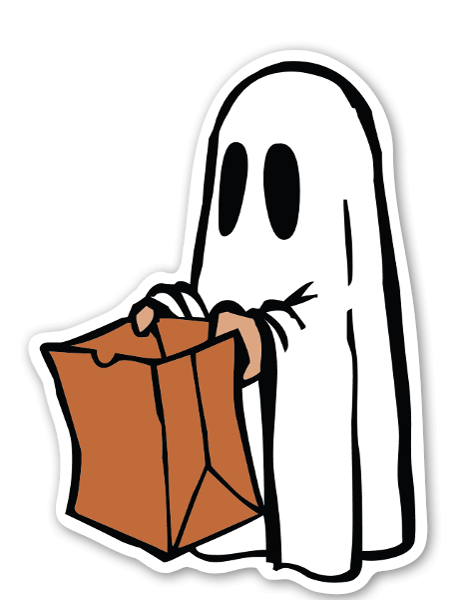 Stickerapp ghosty bag sticker. Slimer drawing happy svg black and white download