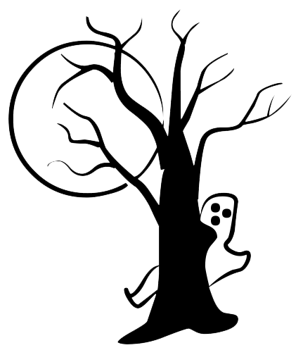 Drawing detail halloween. Tree png transparent image