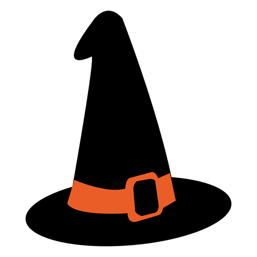 Halloween witch hat png. Transparent svg vector
