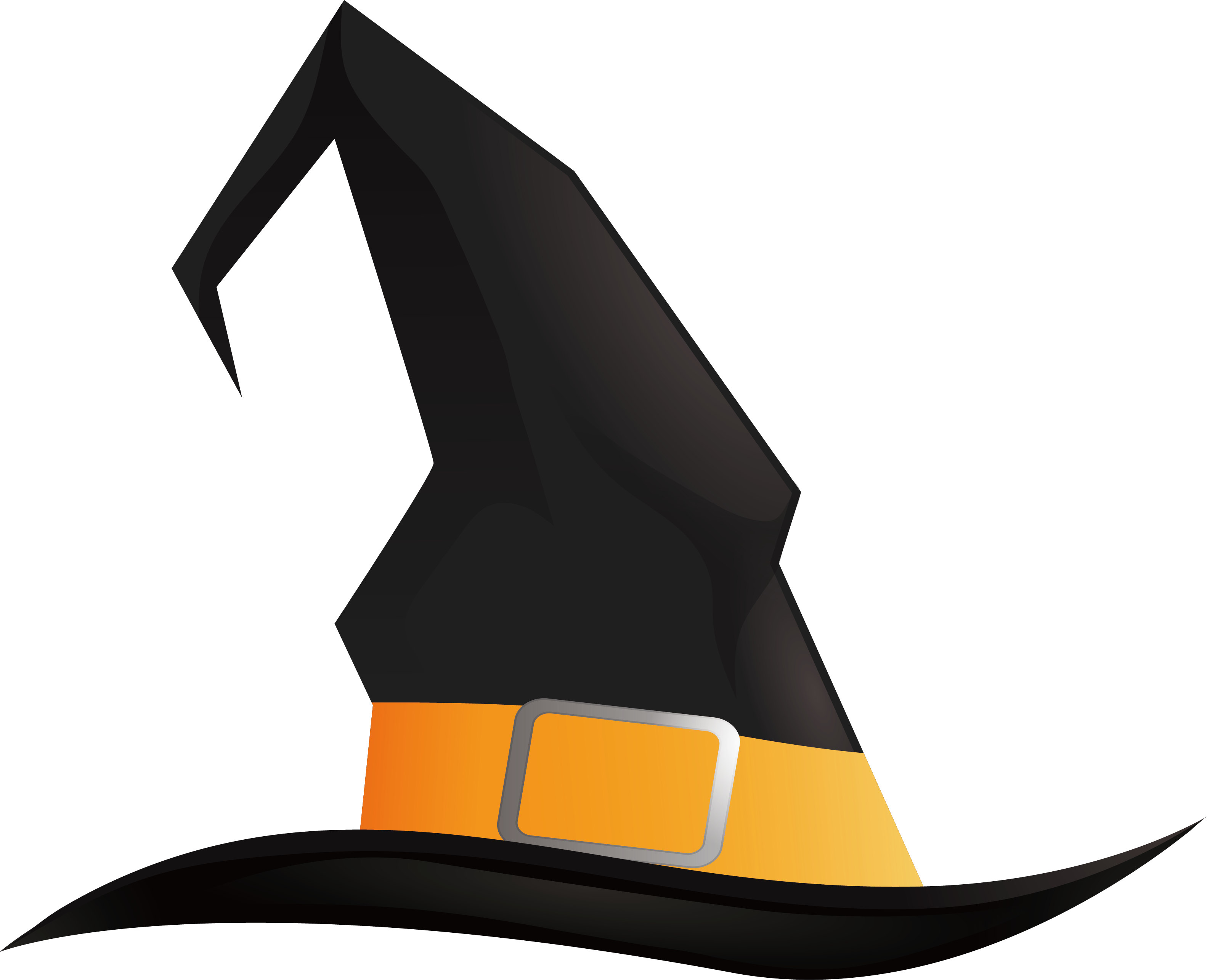Halloween witch hat png. Pointed black wizard transprent