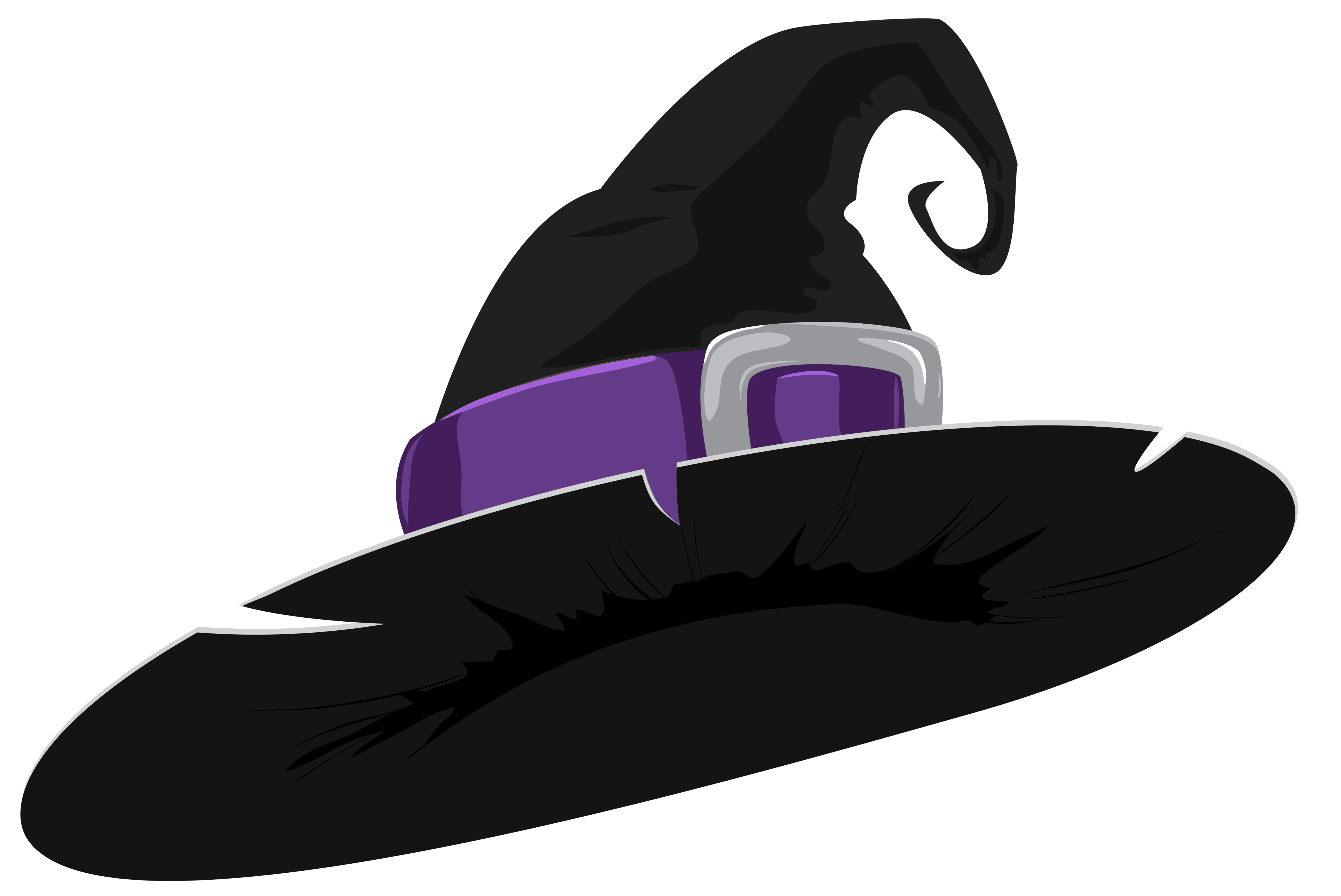 Halloween witch hat png. Black and purple clipart