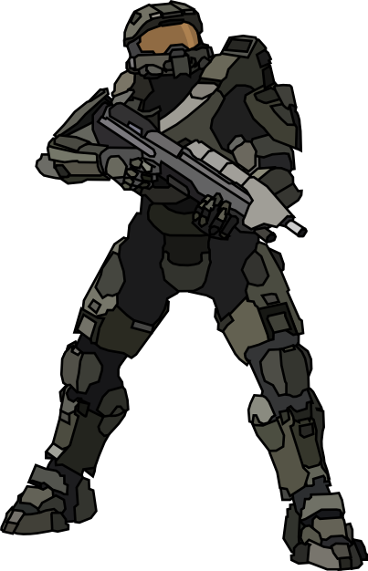 Halo 4 png. Master chief lineart hq