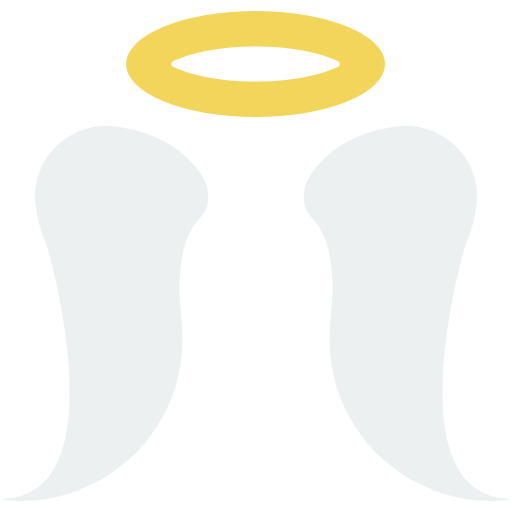 Halo angel png. Wings christian religion icon