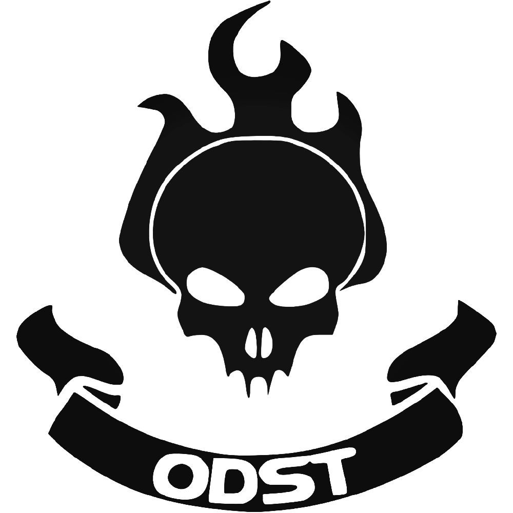 Halo clipart decal. Odst vinyl sticker