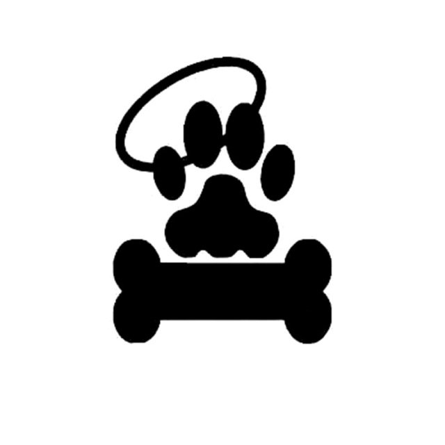 Halo clipart decal. Cm personalized dog