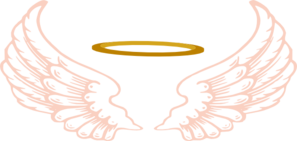 Halo clipart pixel. Angel with wings clip