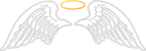 Halo clipart vector. Wings with clip art
